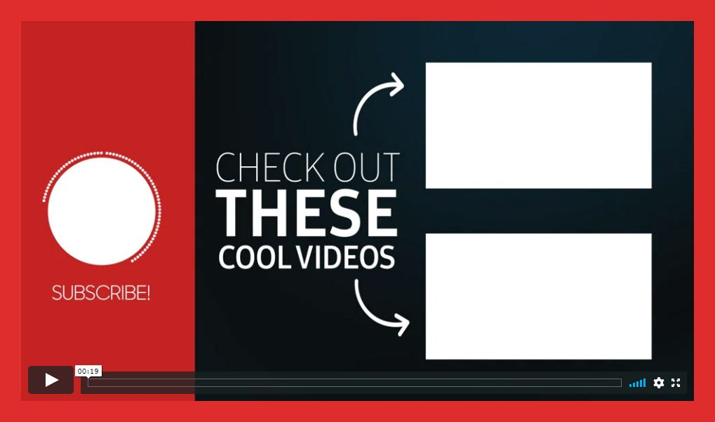 Youtube End Card Templates Free Premium In 2020 Card Templates Free Card Templates Youtube Banner Template