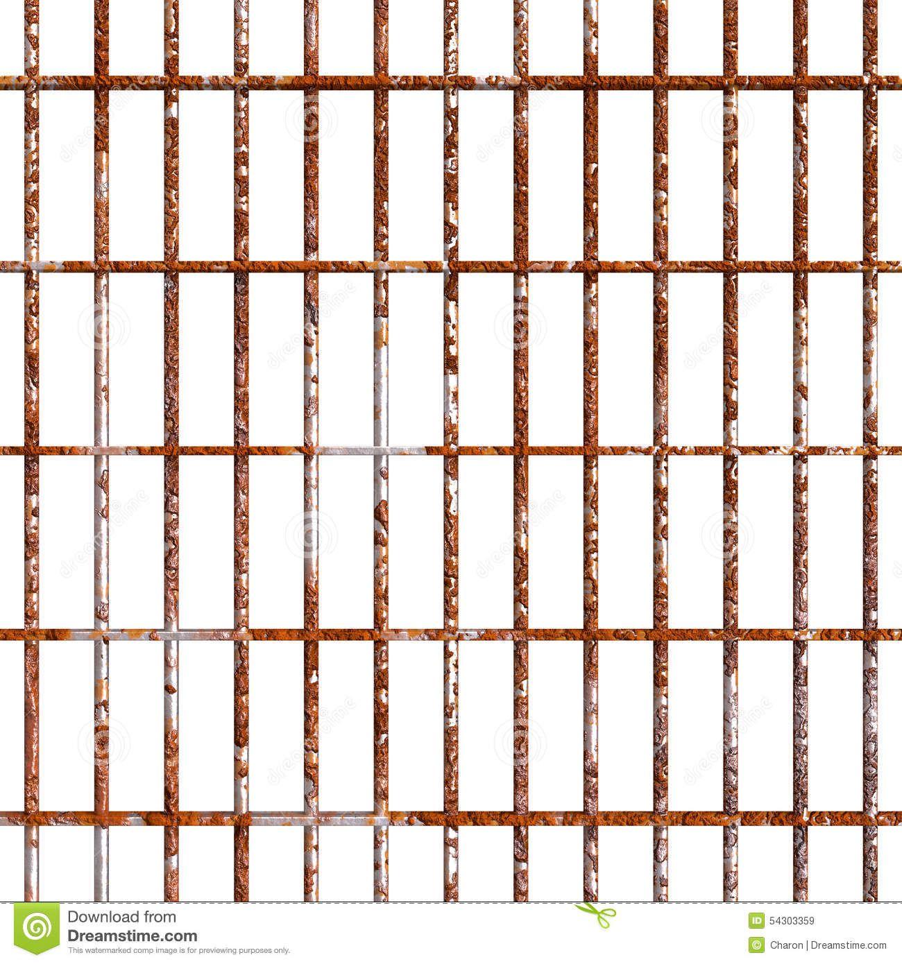 Rust Prison Bars Prison Bar Stock Image