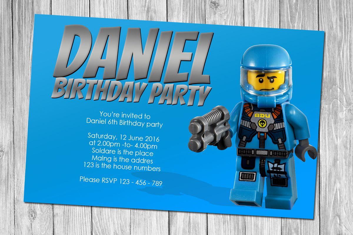 Nice FREE Lego Birthday Invitations FREE Printable Invitation