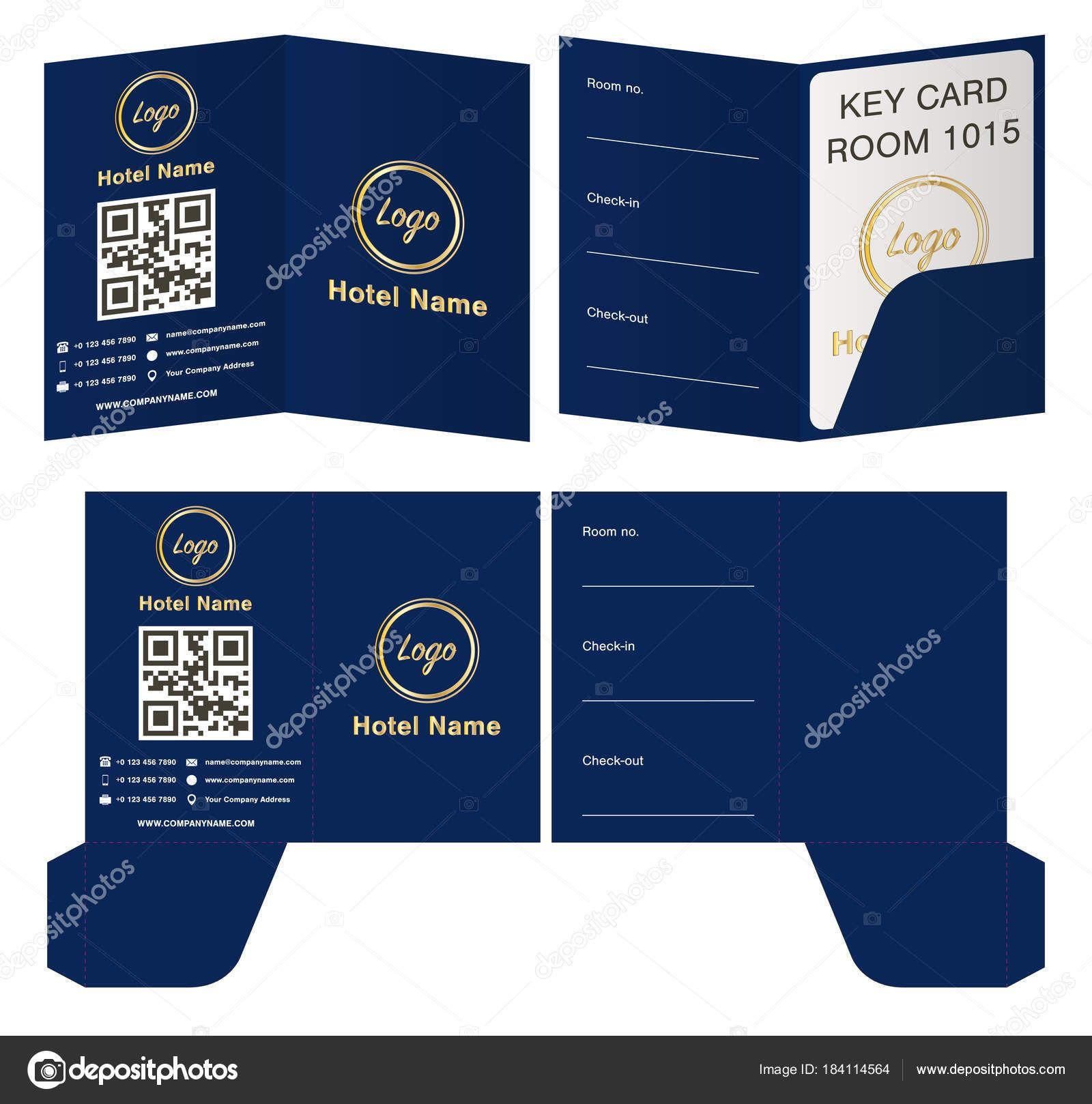 Key Card Holder Template Hotel Key Card Holder Folder With Hotel Key Card Template Profe Hotel Key Cards Create Business Cards Free Business Card Templates