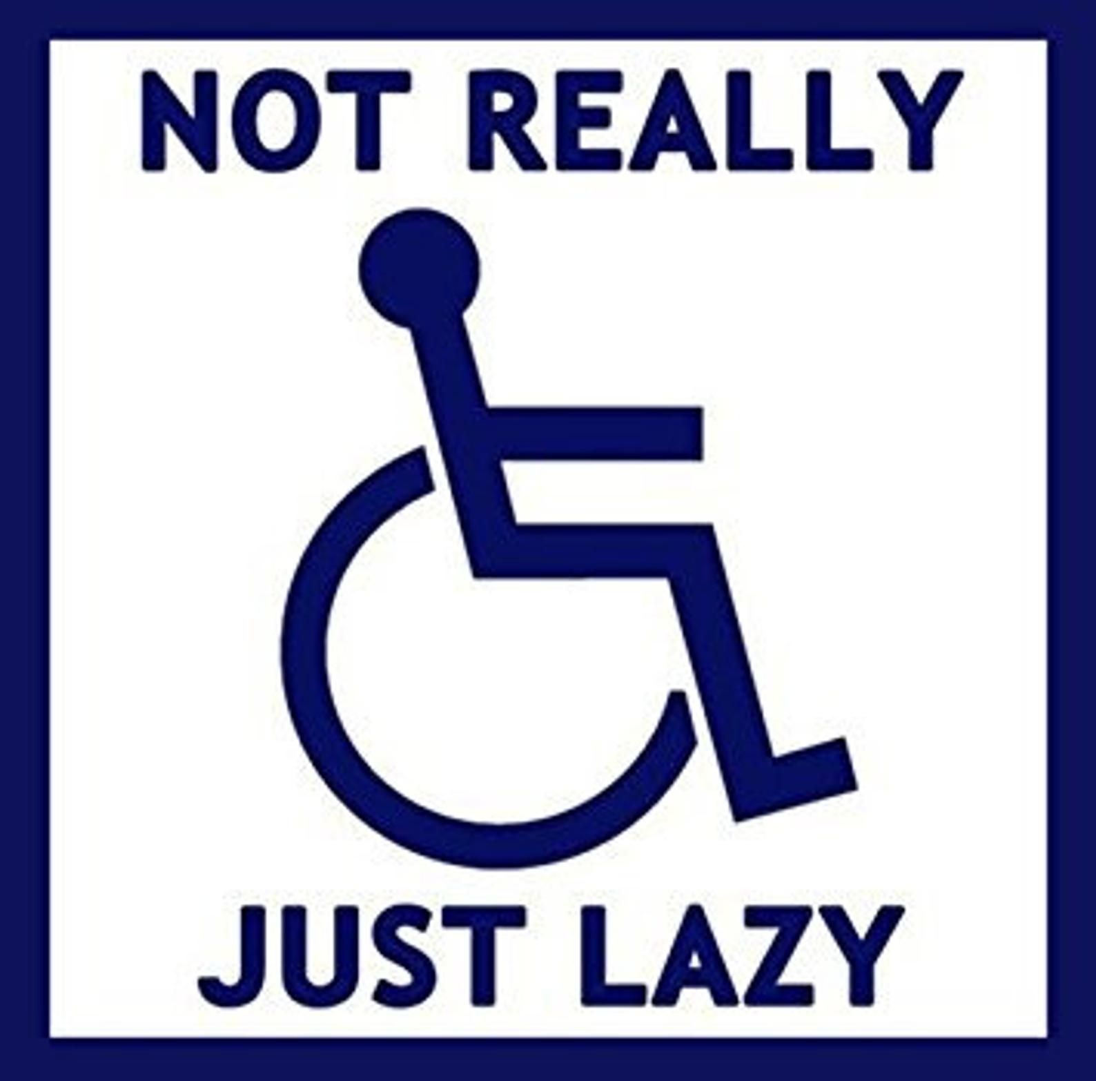 Not Really Handicapped Just Lazy Bumper Sticker Funny Handi Etsy Funny Bumper Stickers Funny Wheelchair Funny Stickers [ 1566 x 1588 Pixel ]