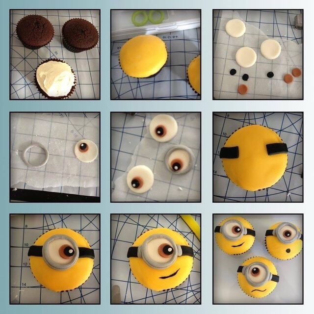 Diy Minion Cupcakes Cupcakes Baking Recipe Recipes How To