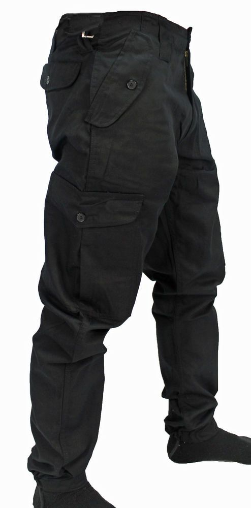 b46f48007f WWK Mens/Kids Army Combat Work Trousers Pants Combats Cargo Pockets Heavy  Duty