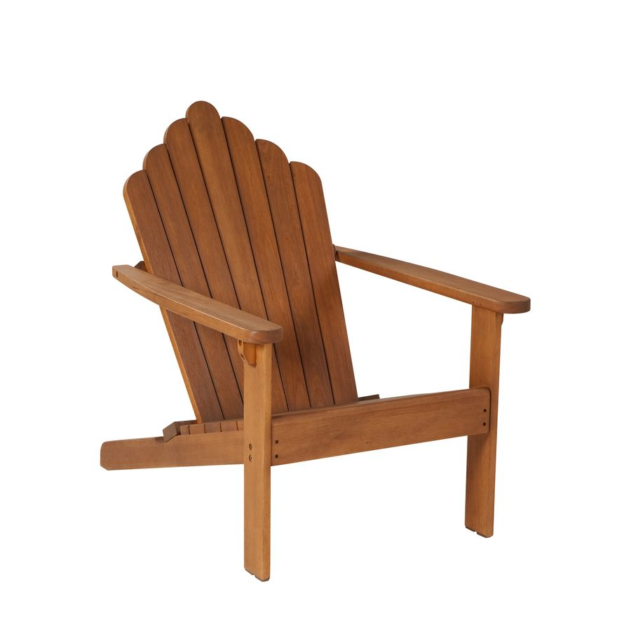 Shop Garden Treasures Westerwood Natural Wood Adirondack Chair At