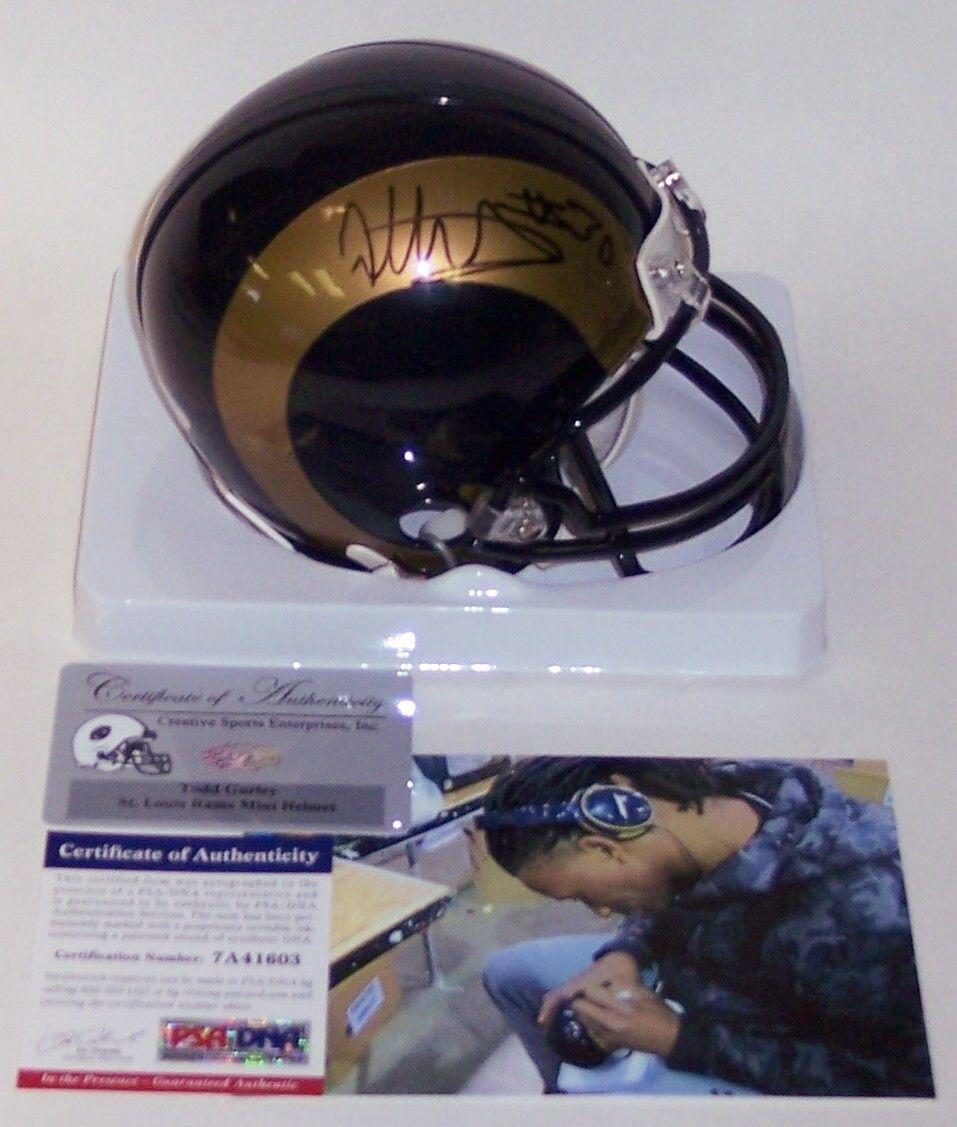 800c89e1 Todd Gurley - Riddell - Autographed LA Rams Mini Helmet - PSA/DNA ...