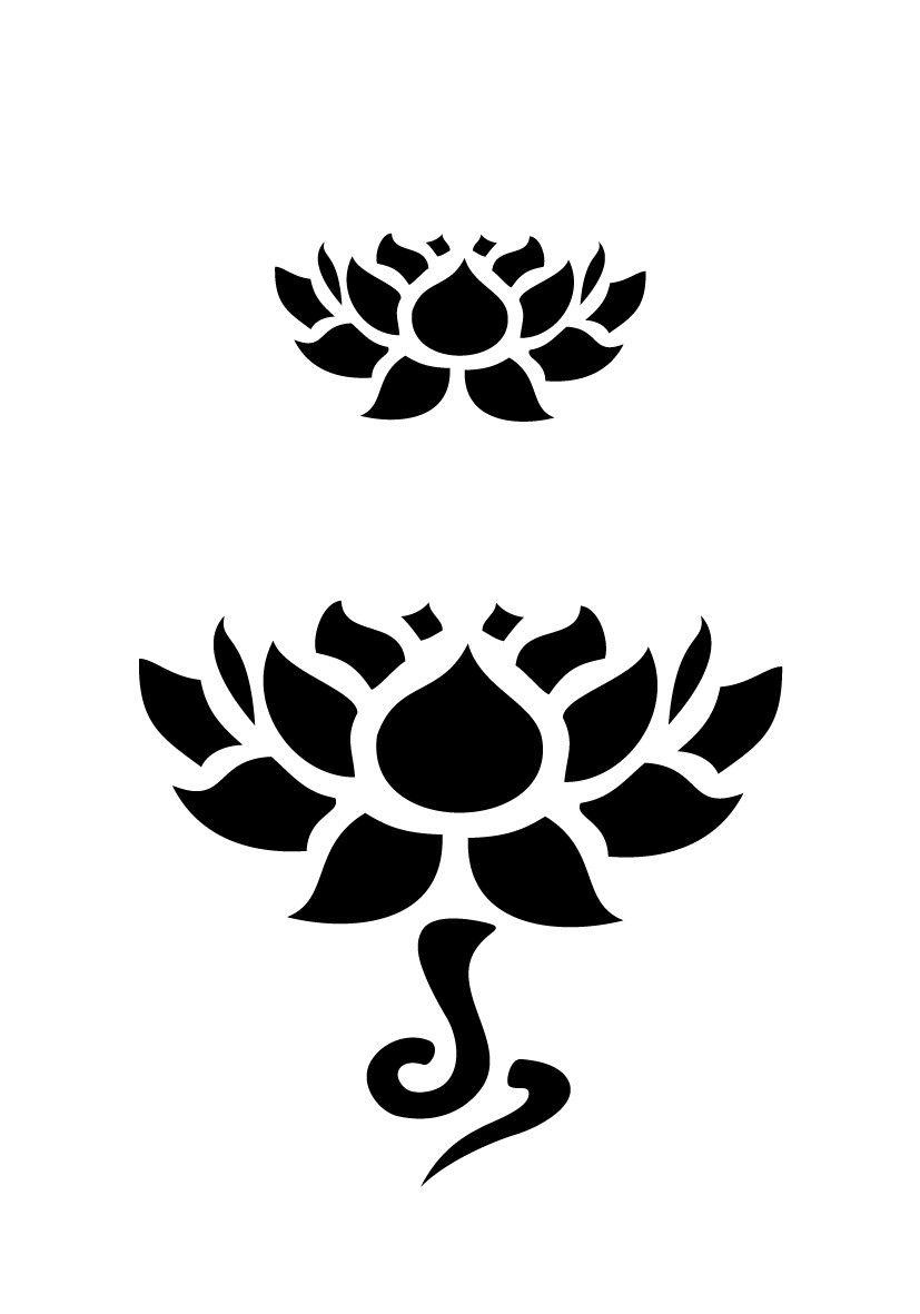 lotus stencil pattern free - Google Search …   Chinese New Year   Pinte…
