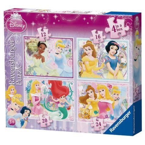 Disney Princess 4 in a Box Jigsaw Puzzle PuzzlesGames Pinterest