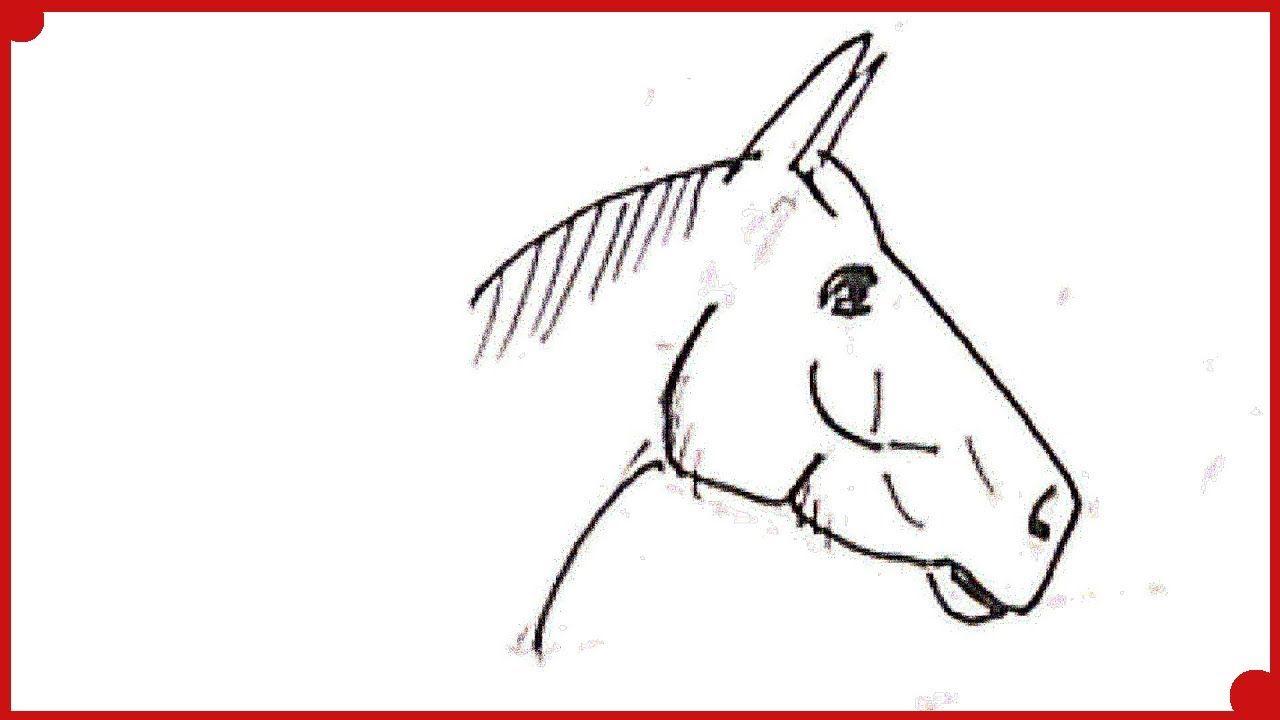 Como Dibujar Un Caballo Super Facil How To Draw A Horse Super Easy Ki Como Dibujar Un Caballo Como Dibujar Animales Dibujos De Animales