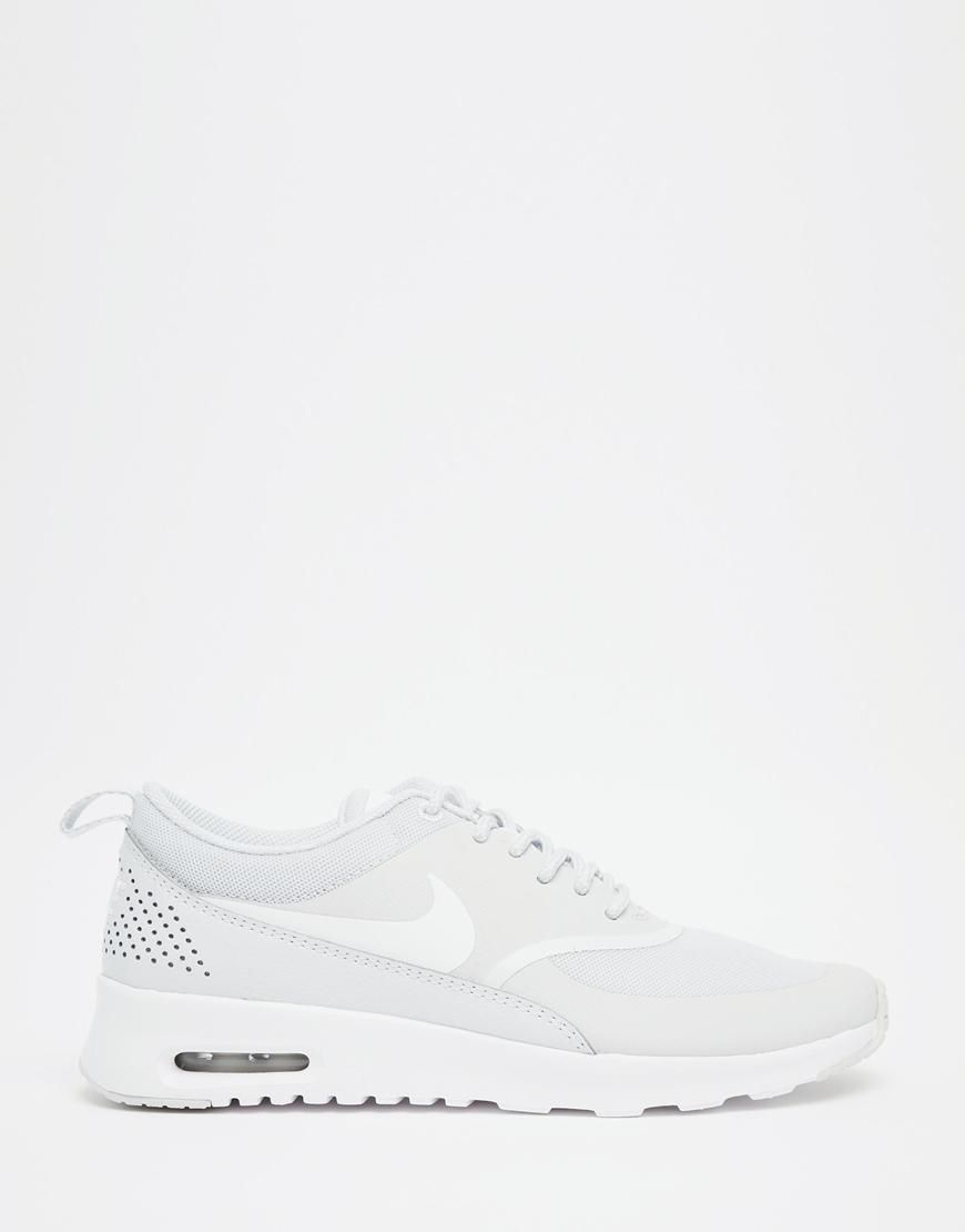 sports shoes 6c6ba 9e910 Nike  Nike Air Max Thea White Platinum Trainers at ASOS