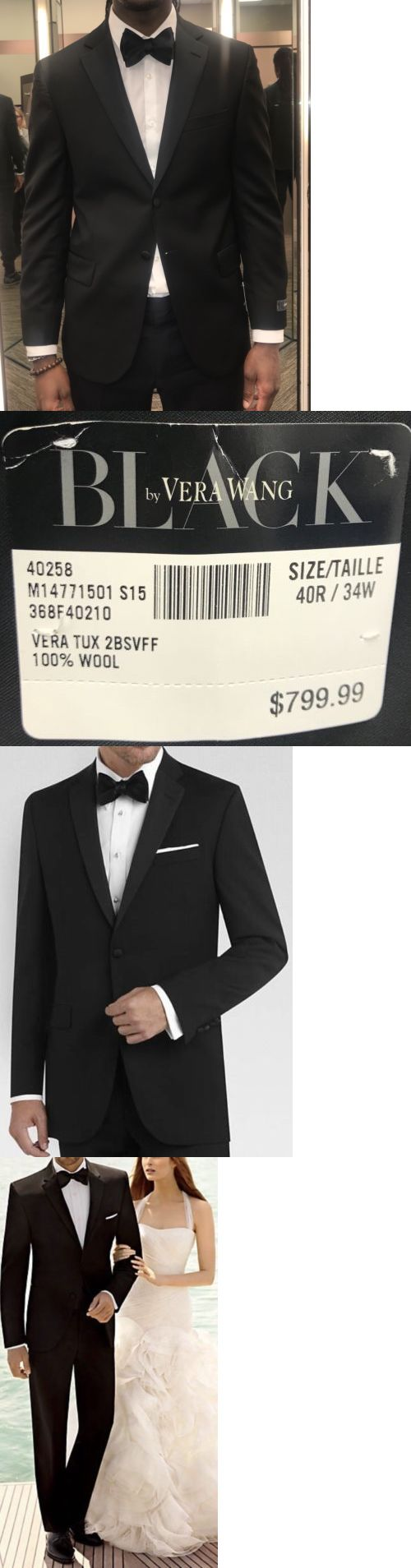 b655d38847a Tuxedo and Formal Jackets 105511: Black By Vera Wang Black Slim Fit Tuxedo  40R -> BUY IT NOW ONLY: $350 on eBay!