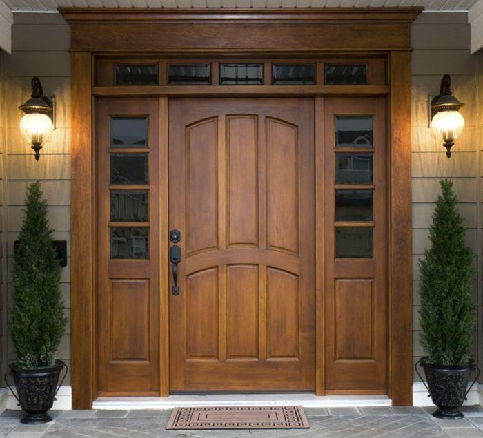 Holztüren  holztüren hauseingang haustür aus holz haustür selber bauen ...