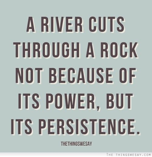 Persistence And Perseverance Quotes. QuotesGram (With images ...