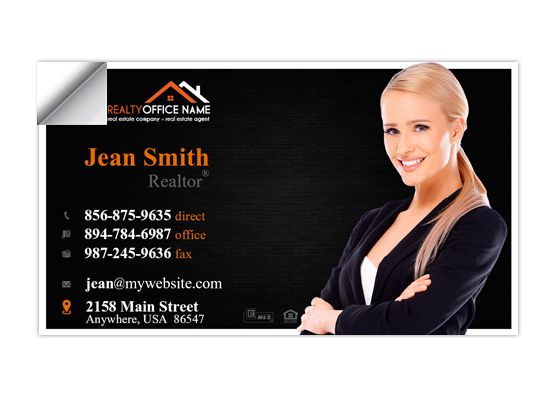 Real Estate Business Card Stickers Template 05 Business Card Stickers Real Estate Business Cards Digital Business Card Realtor Business Cards