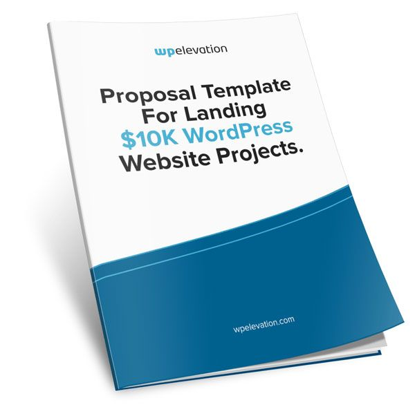 FREE Proposal Template for Landing $10K WordPress Website - training proposal template