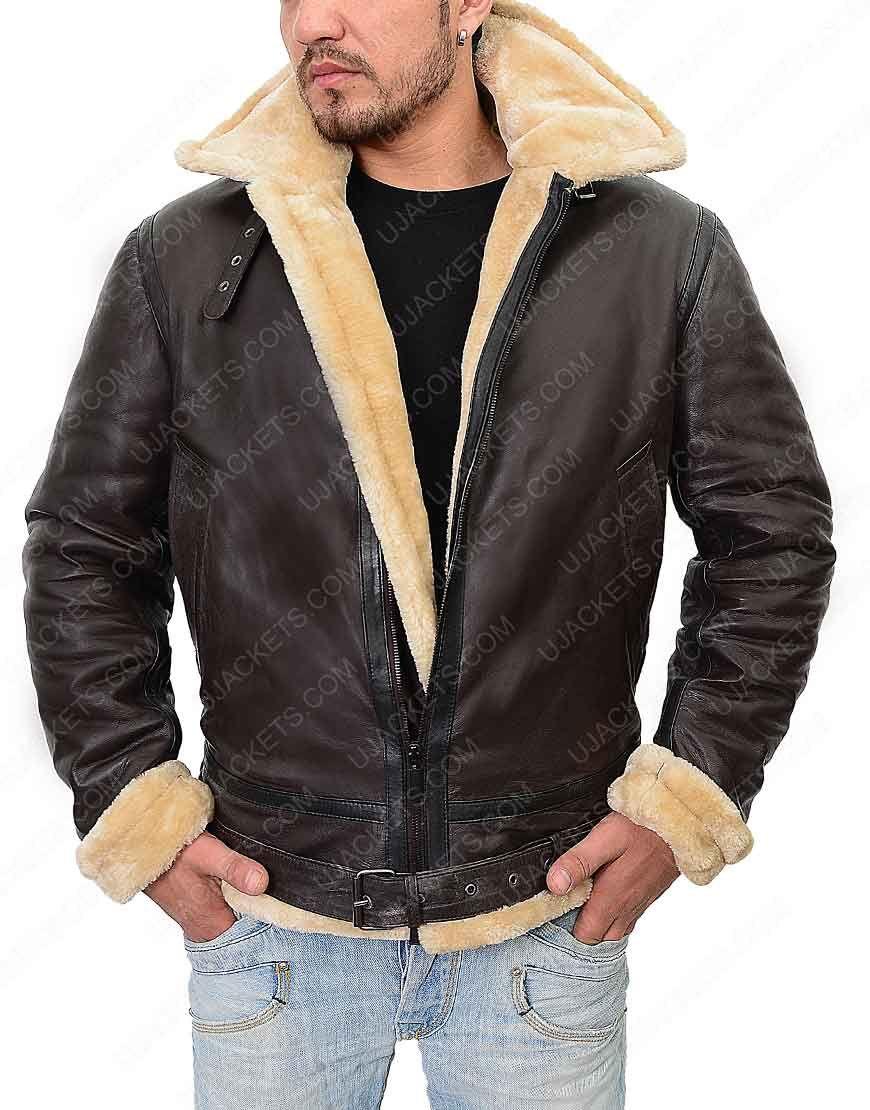 Tom Hardy Dunkirk Leather Jacket Tom Hardy Dunkirk Shearling Jacket Cafe Racer Leather Jacket Leather Coat Jacket Leather Jacket Men [ 1110 x 870 Pixel ]