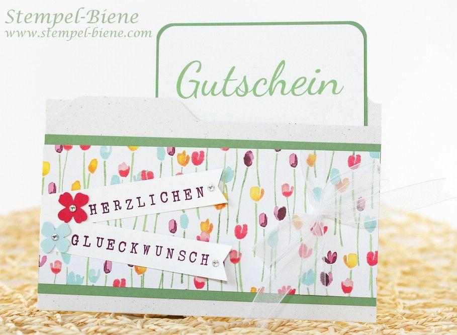 Stampin Up Gutscheine In Deiner File Folder Karte Gutscheine