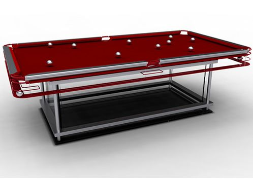 Gifts For Men   Homeware High End Pool Table Exposed Pocket System And Glass  Base.