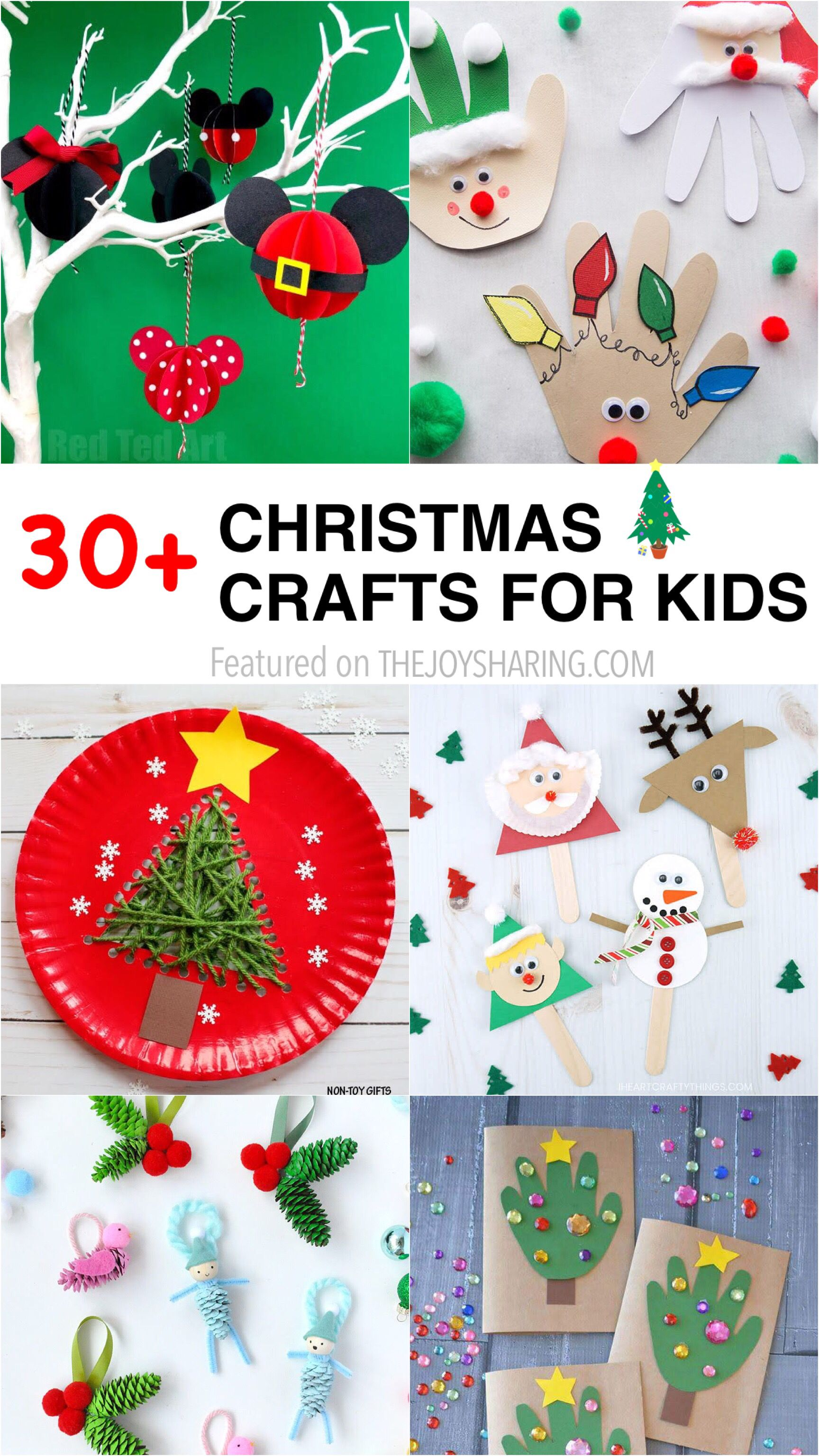30 Easy Christmas Crafts For Kids Christmas Crafts Christmas Crafts For Toddlers Christmas Crafts For Kids