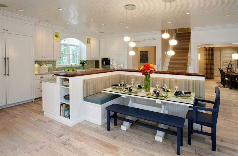 Kitchen Eating Area Bench Seating Ideas Kitchen Island With