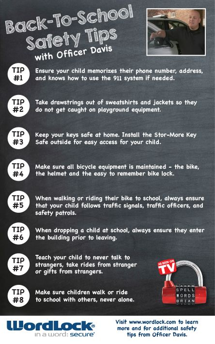 With fall just around the corner, be sure to check out our Back-to-School Safety tips from Officer Jeff Davis! Visit www.wordlock.com for more safety tips and to learn more!