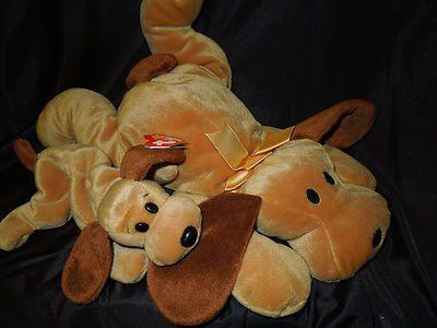 209d9f73916 Rare Bones 1994 TY Beanie Baby Hound Dog plush   matching large Pillow Pal