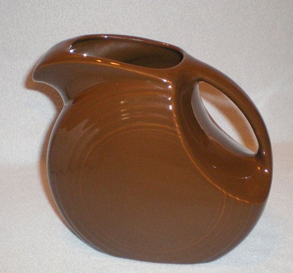 Fiesta® Chocolate Disc Pitcher - retired ~ Hey I found this really awesome Etsy & Fiesta® Chocolate Disc Pitcher - retired ~ Hey I found this really ...