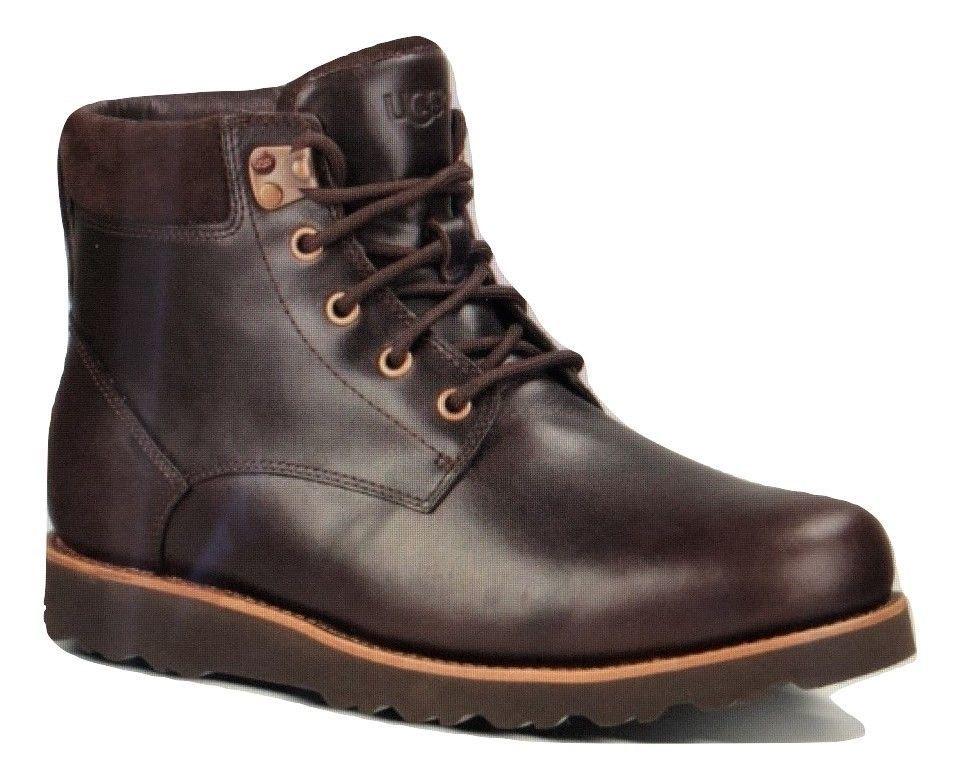 542b367b4f3 Mens Ugg Australia Seton Stout Brown Leather Waterproof Boots Size ...