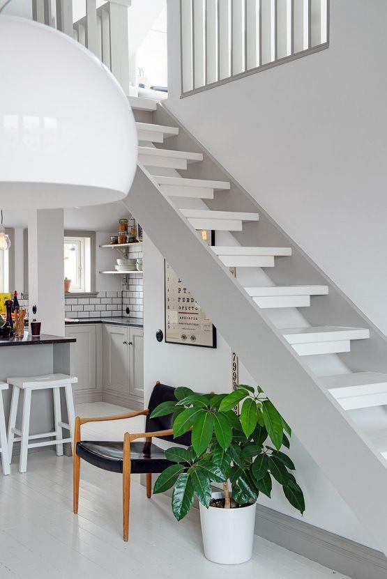 Post 19 escaleras en pisos nórdicos ---u003e cocinas modernas - decoracion de escaleras
