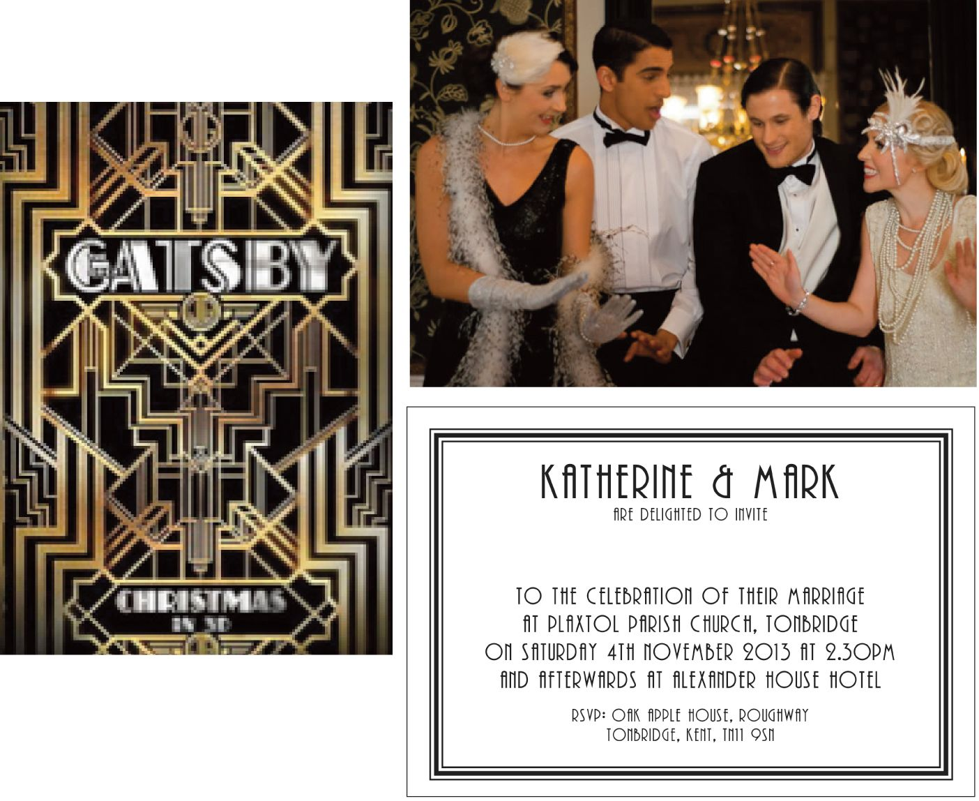 Wedding Invitation Wording: Gatsby Wedding Invitation Templates ...
