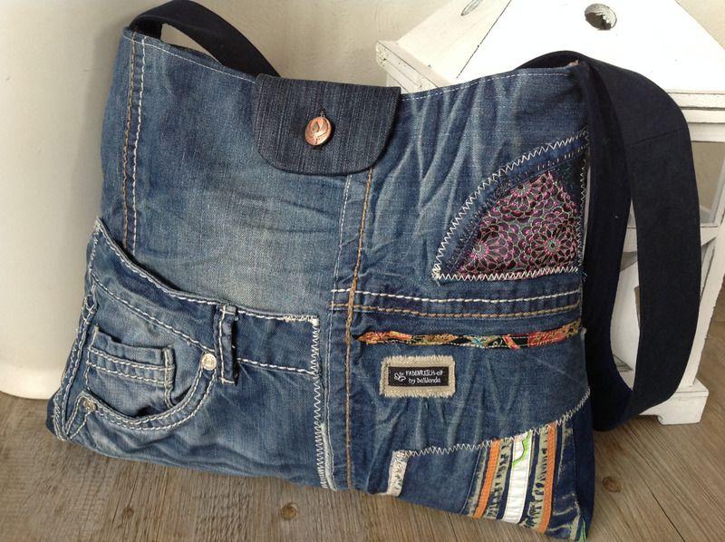 jeanstasche fadenreich elt upcycling von fadenreich elt auf taschen selber. Black Bedroom Furniture Sets. Home Design Ideas