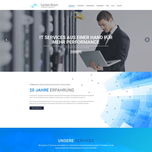 Erstelle Ein Website Design F R Carsten Braun Software Solutions It Dienstleister Allgemein Bin Ich It Dienstleister Ich Entwick App Design Page Design App