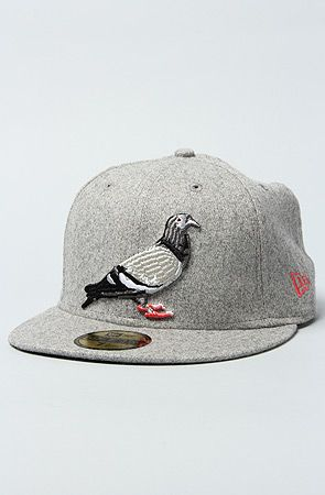 Staple The Pigeon New Era Fitted Cap in Heather Grey   Karmaloop.com -  Global Concrete Culture 2d5a5d9cbc2a