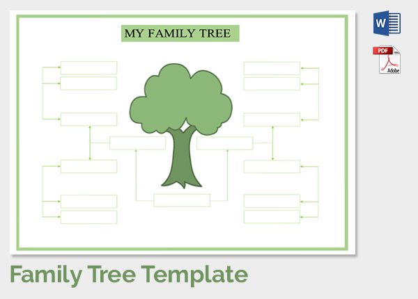Family Tree Template 2 Family Tree Pinterest Family Trees
