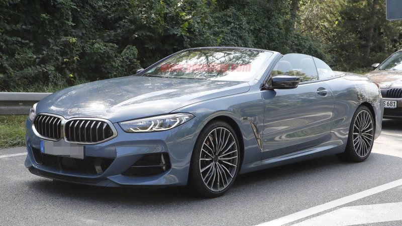 2020 Bmw 8 Series Convertible Spied With Nearly No Camouflage