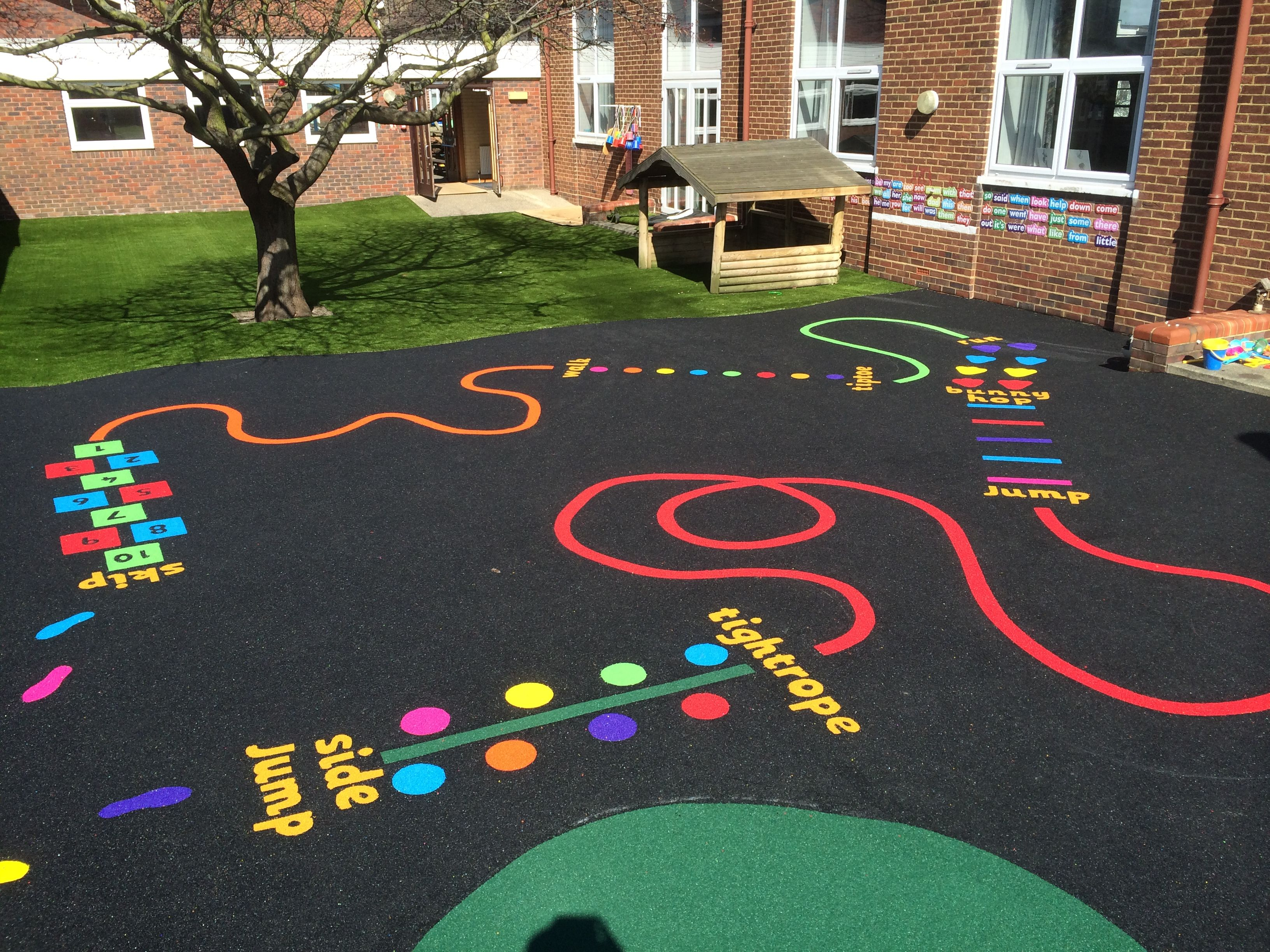 Thermoplastic Playground Markings Jump