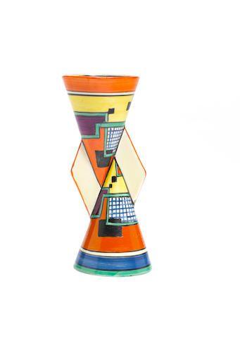 Clarice Cliff Football A Rare Yo Yo Vase Shape 379 Circa 1930