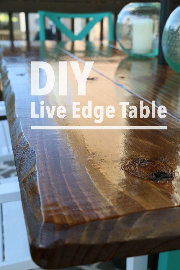 Diy Live Edge Table Diy Kitchen Table Live Edge Table Live