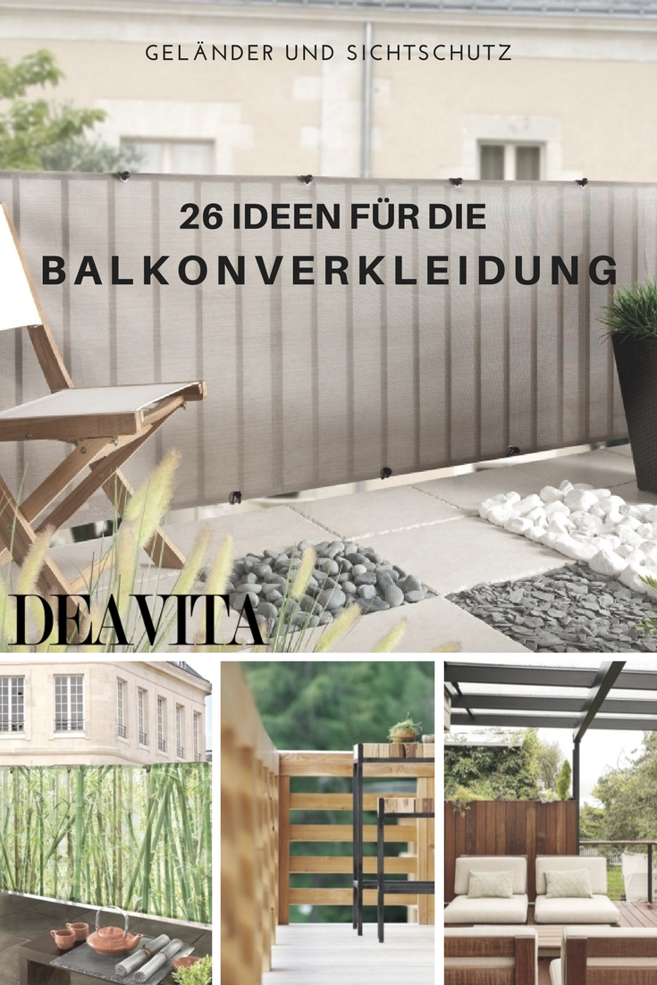 Diese Ideen für Balkonverkleidung umfassen Designs aus Holz