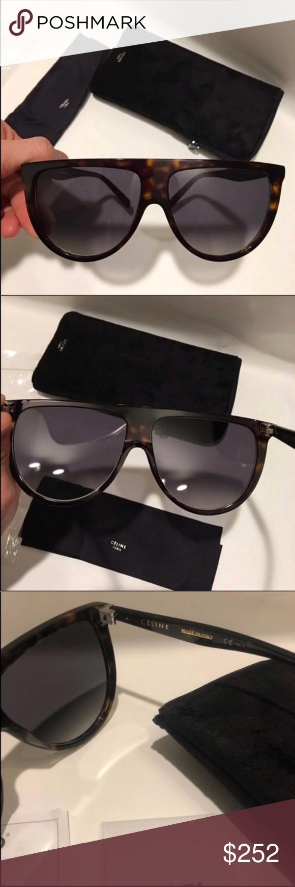 49e01eae1bcf Celine Thin Shadow sunglasses 🔥 Celine 41435 s Thin shadow dark havana  sunglasses 100% new and authentic. Includes original Celine case and Celine  cloth.
