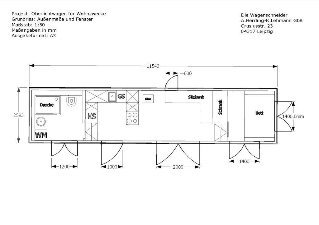 zwei Zimmer, Küche, Bad Grundriss