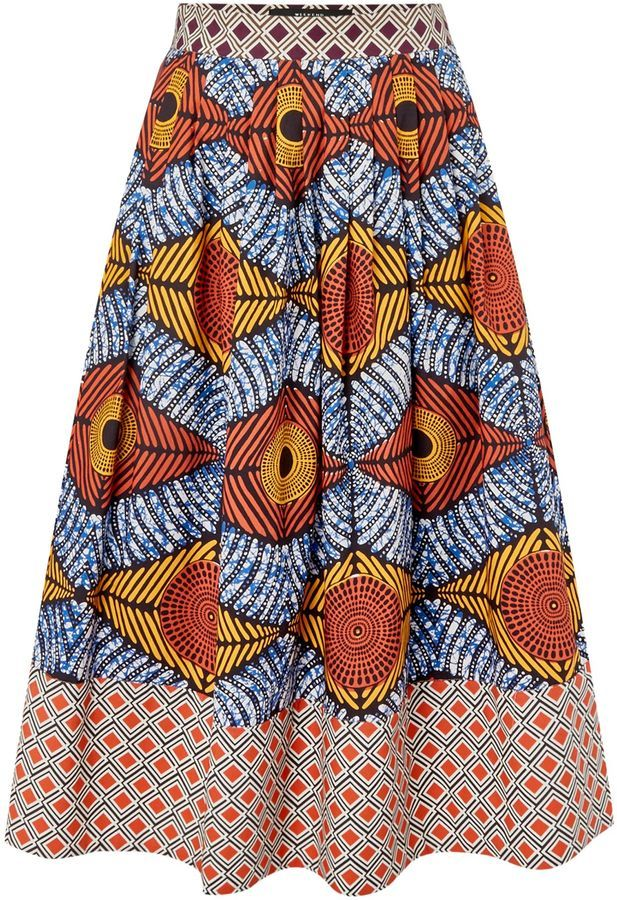 4fca1cac7 Max Mara CELLUA african printed pleated skirt | African Style ...
