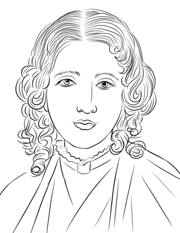 harriet beecher stowe coloring page