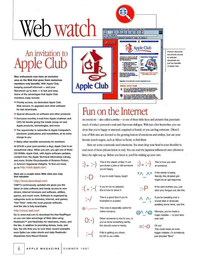 1997 Apple Computer Invitation to Apple Club Print Ad | Mac