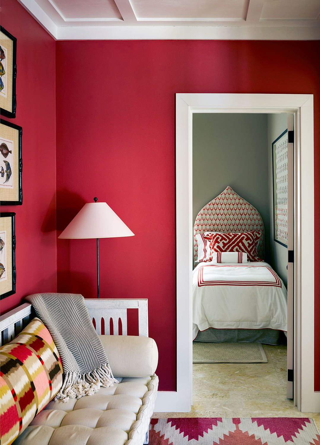Castaway Chic July August 2014 Lonny Red Rooms Home Decor Eclectic Bedroom