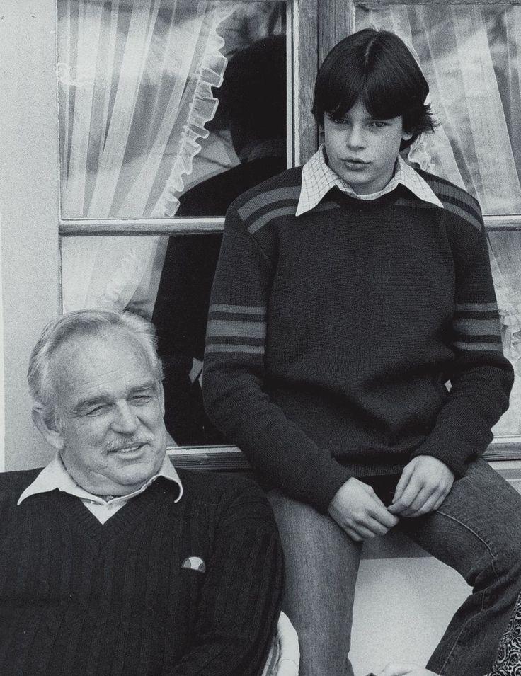 książę Monako Rainier III z księżniczką Stephanie [1976]