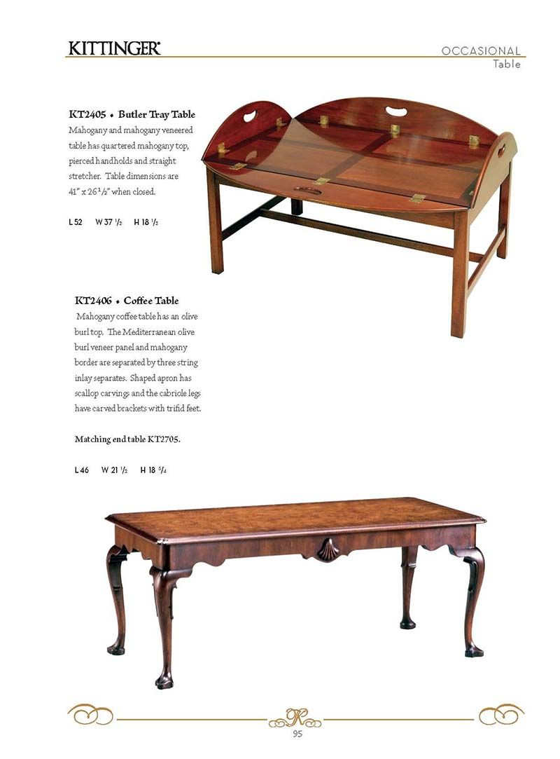 Kittinger® Furniture Company- Occasional ○ Tables - Kittinger® Furniture Company- Occasional ○ Tables American