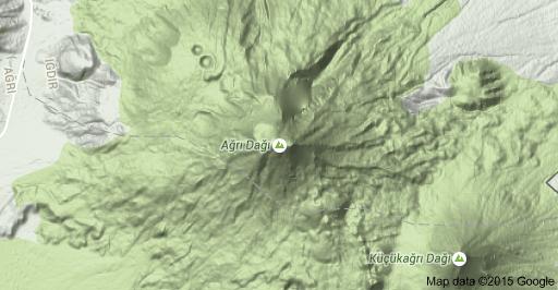 Map of Mt Ararat 76000 KaragneyIdr MerkezIdr Turkey 7