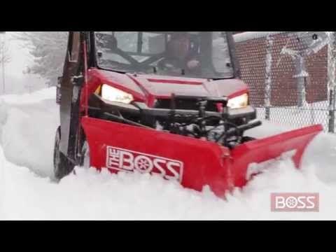 Boss Utv Power V Xt Plow In Action Action Snow Plow Power