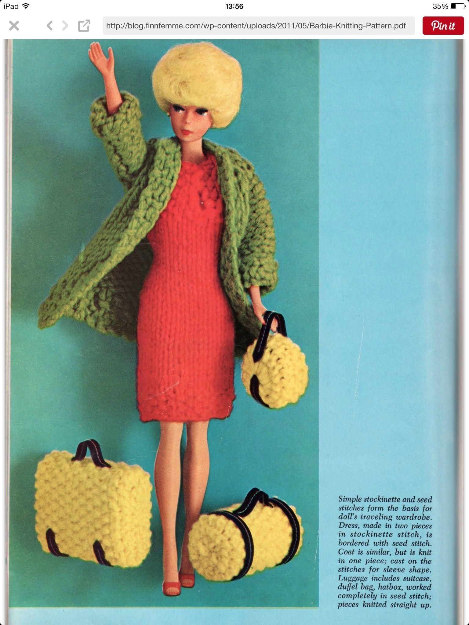 Pin by Dawn Blacker on Barbie knitting ideas & patterns   Pinterest ...