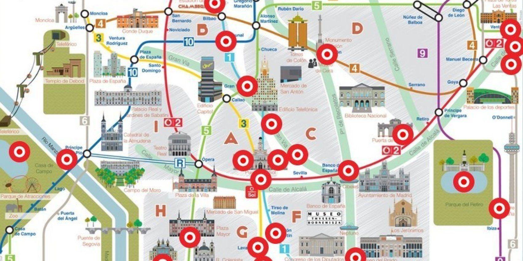 Madrid A Través De Las Canciones Que Mencionan Sus Rincones Mapa Interactivo Ele Mapa Interactivo Canciones Mapas